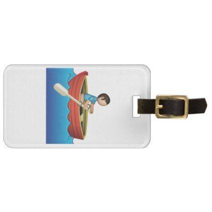 #Man Rowing - Emoji Bag Tag - #luggage #tags