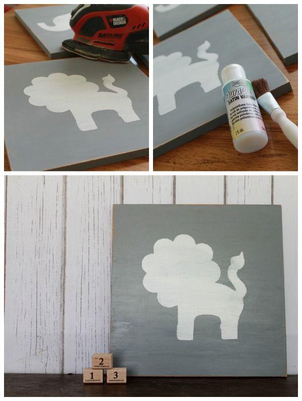 DIY nursery animal wall art instructions!