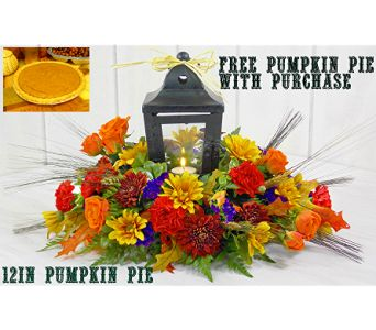 Pass The Pie in IndianapolisIN, Steve's Flowers and Gifts. Buy this wonderful centerpiece and receive a FREE pumpkin pie delivered through 11-23-16! Order online today at stevesflowers.com