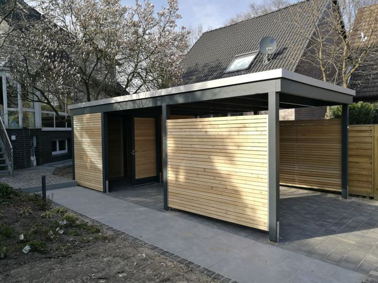 Carport With Rhombus Formwork And Battens Carport Designs Carport Garage Shed Homes