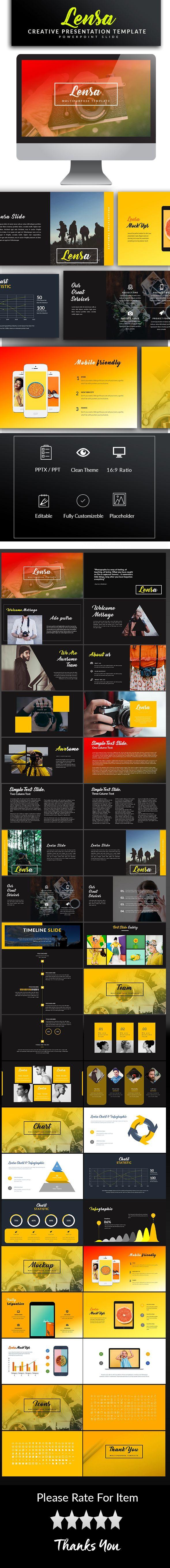Lensa Powerpoint Template - PowerPoint Templates Presentation Templates
