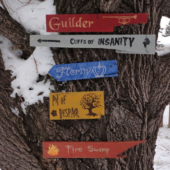 Princess Bride Wooden Directional Sign 5 Pack - Made to Order