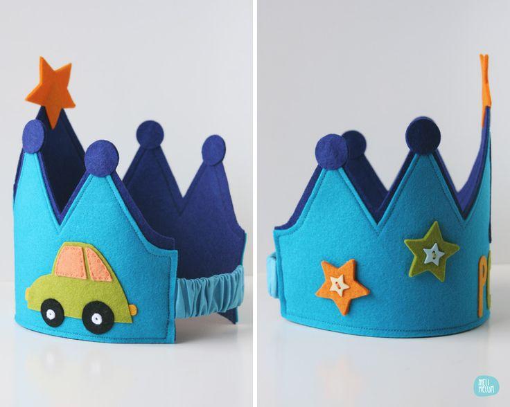 Corona de fieltro para cumplea os buscar con google - Ideas de cumpleanos para ninos ...