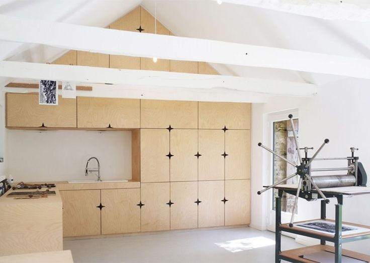 Take a look inside this old French barn that has been converted into a…