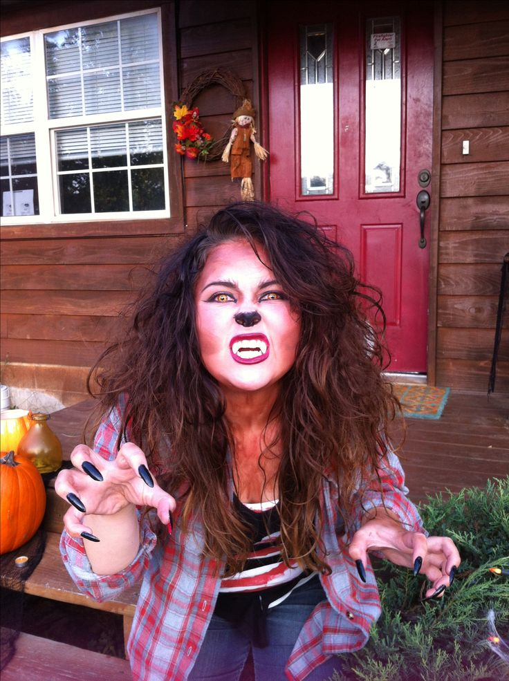 Werewolf girl costume.