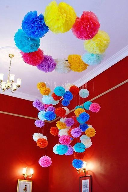 Бумажные помпоны, гирлянды, растяжки на любой праздник! - Цветы, украшения, праздничное оформление Владивосток