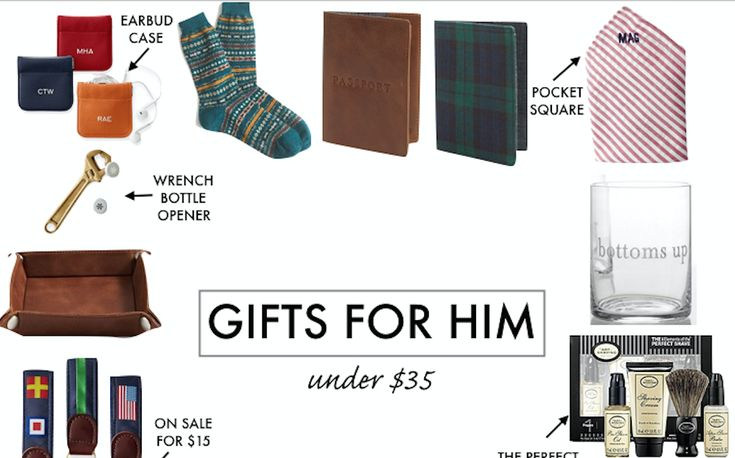 This gift guide for him includes all holiday gift ideas for under $35!
