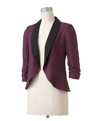lc lauren conrad jacket $42: Light Pink Blazers, Lc Lauren Conrad, Ruched Blazers, Style, Fashion Models, Fall Blazer, Conrad Ruched, Front Blazers, Grape Wine