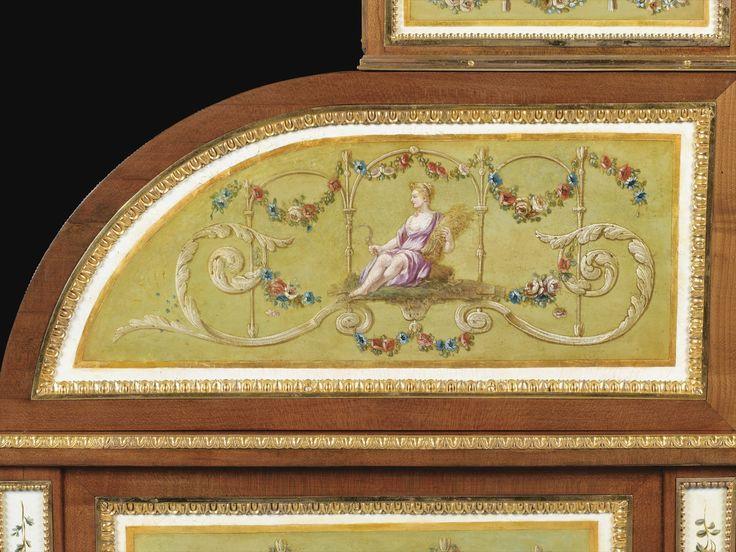 13 Drouot 23 Mars 1984 Lot 101 Ces 3 Meubles Portant La Marque Dft Et Grc Marques Du Garde Meuble D Hand Painted Furniture Louis Xvi French Furniture