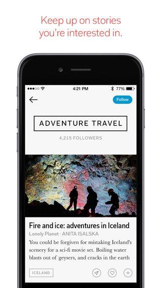 Flipboard: Your Social News Magazine by Flipboard Inc.  Each page flips upward