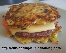 Galette Burger .... Une variante du hamburger ....