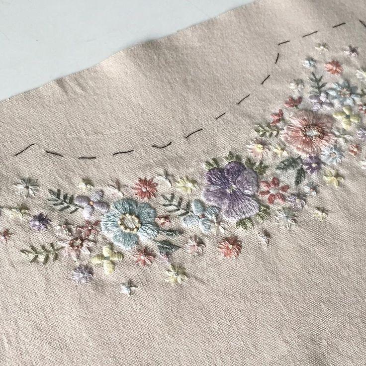 """1,181 Likes, 21 Comments - Masha Bushina (@masha_bushina) on Instagram: """"В ожидании весны... заказ на платье на первый день рождения маленькой Веры) #flowerembroidery…"""""""