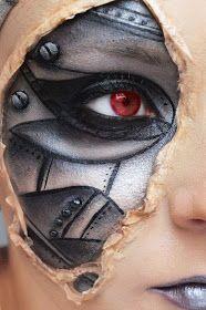 Karolina Zientek Makeup Blog: I'm a robot - charakteryzacja krok po kroku