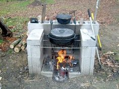 Portable Outdoor Fireplace - DIY - MOTHER EARTH NEWS - natureb4