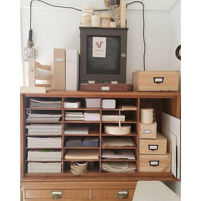 Craftroom Art Office Craftroom Beige Larder Organized Cubbies Interior