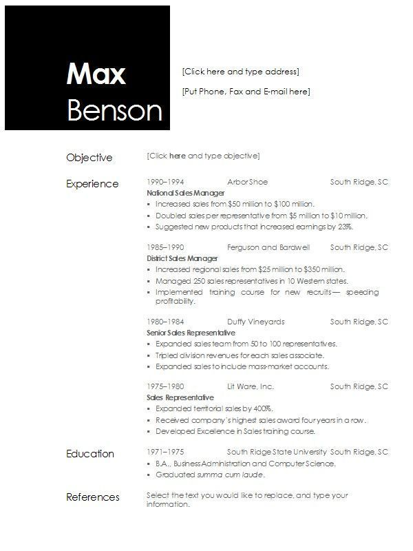 For Openoffice 4 3 Resume Templates Sample