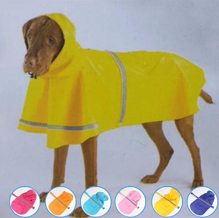 2015 Olcsó smal nagy kutya esőkabát kisállat kiskutya Vízálló Esőkabátok 6 színes l nagy méretű XXXL kutyák esőkabát kutya ruhák GYF016