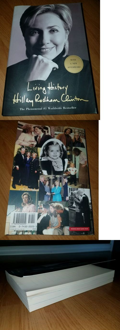 Hillary Clinton: Living History By Hillary Rodham Clinton Paperback 2003 Presidential Biography BUY IT NOW ONLY: $9.5