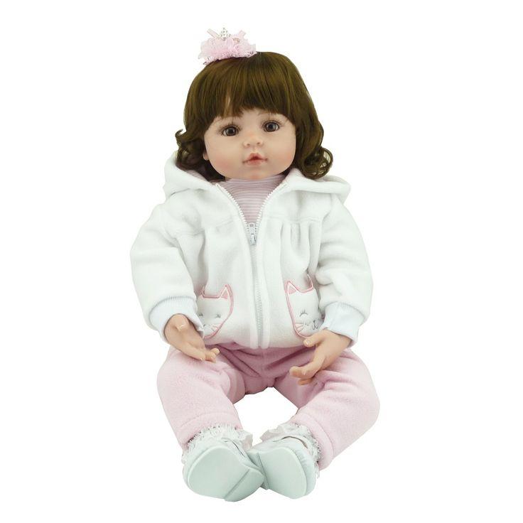 NPK 55cm Silicone Vinyl Baby Reborn Dolls adorable chucky Handmade Kids Princess Toys Children bonecas toys