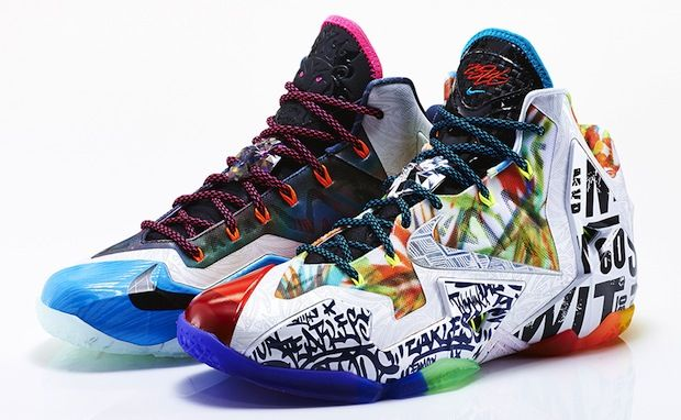 """Nike LeBron 11 """"What the LeBron"""" Right vs. Left Shoe Comparison by Campless"""