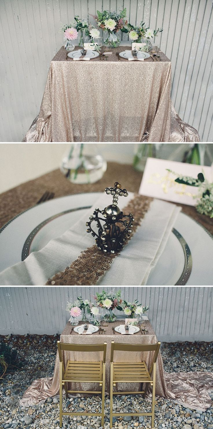 A Coastal Wedding Decor Inspiration Shoot From Rock My Wedding Featuring A  Rustic Olive Leaf Table