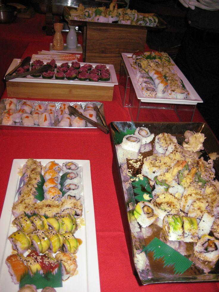 Asian snack buffet.