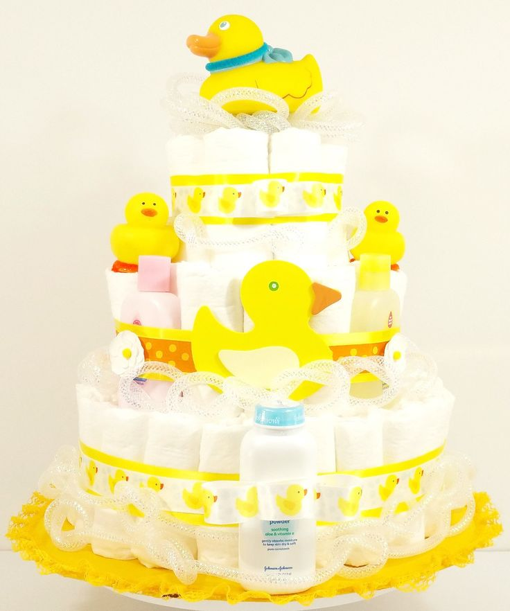 Suds and Bubbles Bath Time Ducky Baby Diaper Cake
