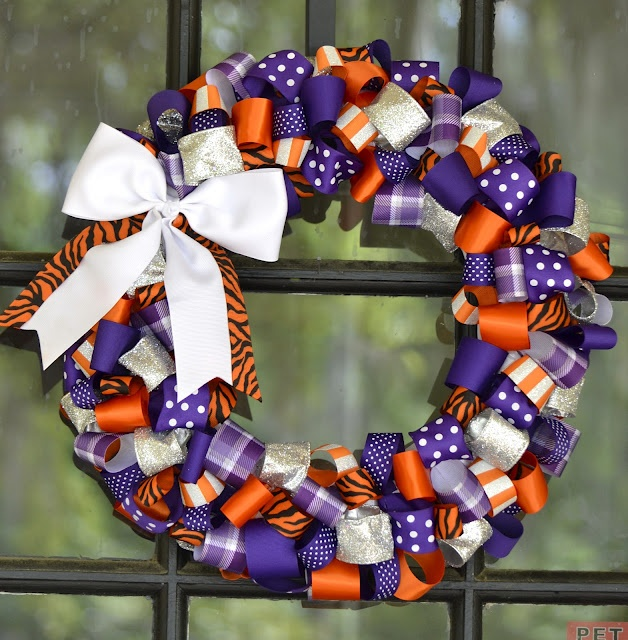 Clemson Tigers Wreath
