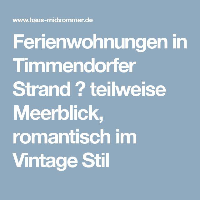 Ferienwohnungen in Timmendorfer Strand ☀ teilweise Meerblick, romantisch im Vintage Stil
