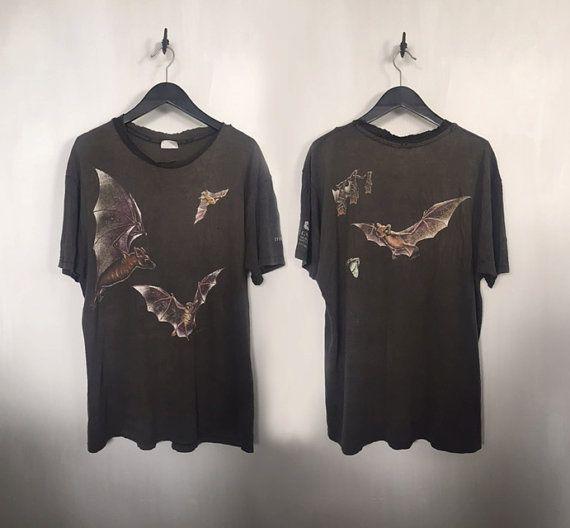 Bat shirt vintage t shirt  90s grunge clothing 90s by CottonFever