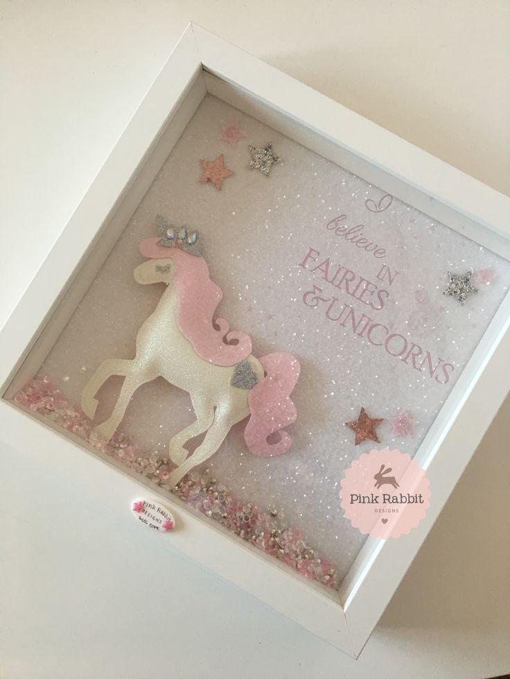 Full Glitter Background Unicorn Frame