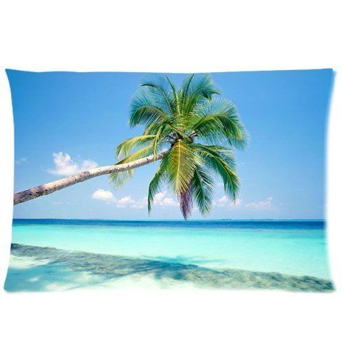 Huirong Pillowcase Design style Sandy Tropical Paradise Beach with Palm Trees and the Sea Ocean (2) Pillow Protector, Best Pillow Cover - standard size 20 X 30 inch two sides printing huirong http://www.amazon.com/dp/B0116J5U3K/ref=cm_sw_r_pi_dp_X8yBwb1693HHT