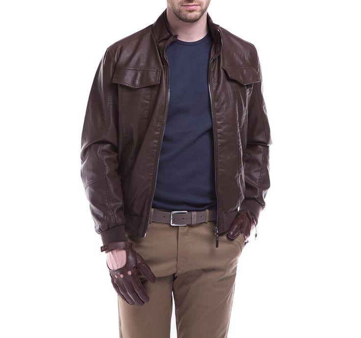 Kurtka męska WITTCHEN w brązowym kolorze.