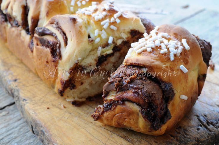 Pan brioche da colazione alla nutella soffice