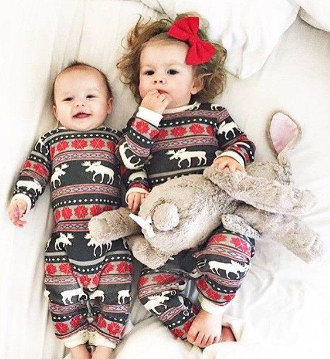 PRE ORDER - Lazy One Infant & Dog Moose Fair Maple Union Suite Matching Christmas Pj's - Family Matching Christmas Pajamas - Christmas Morning Pajamas - Ruffles & Bowties Bowtique - 1