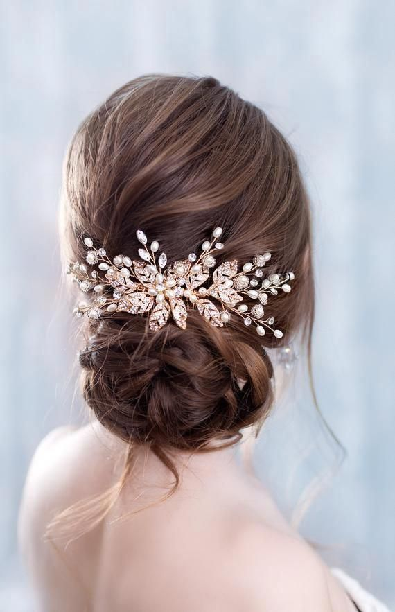 14 Braids Hairstyle To Start Your Winter Style Rose Gold Hair Piece Rose Gold Hair Accessories Gold Hair Accessories