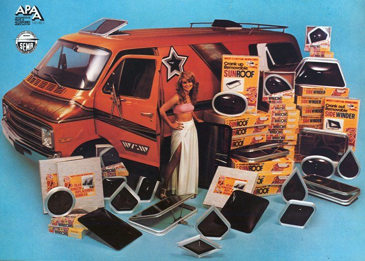 Custom 70's Van and all its accessories.