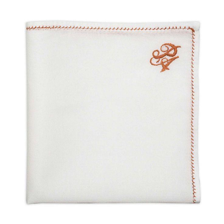 Personalized Copper Thread Pocket Square