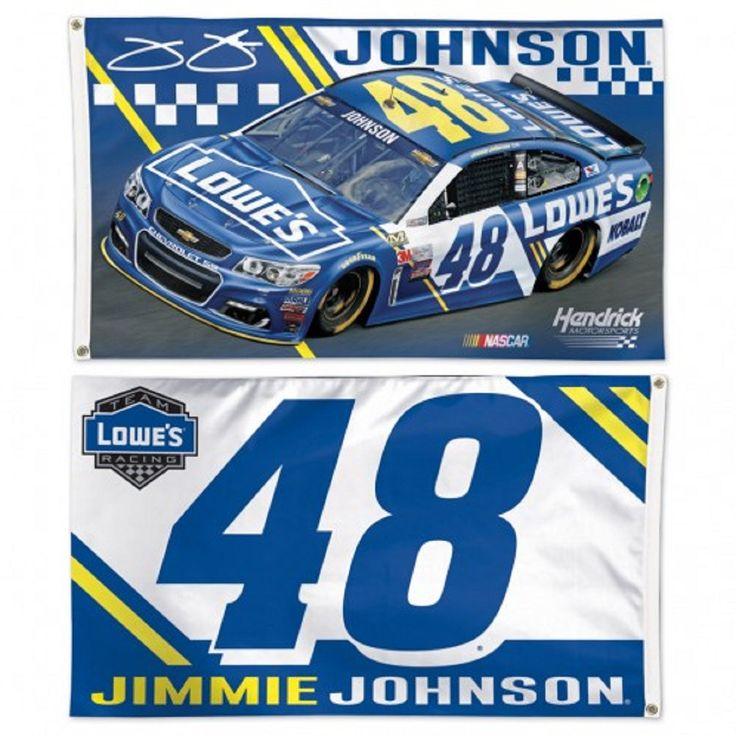 Jimmie Johnson FLAG 2 Sided NASCAR 2017 DELUXE 3'x5'