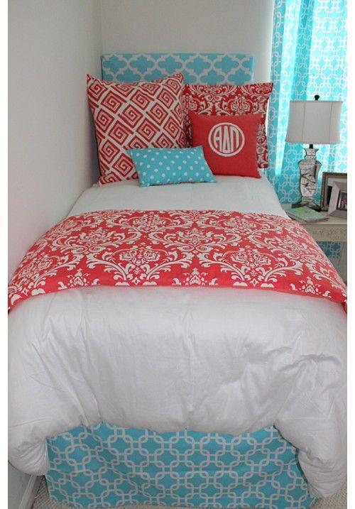 monogrammed bed scarf 1
