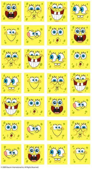 NICKELODEON SPONGEBOB FACES FROM CRAFTYSTICKERS