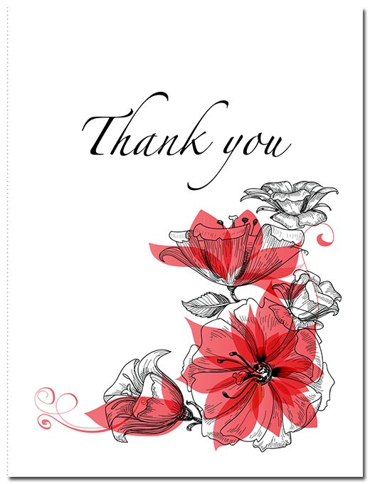 Romance Suite Thank You Card - paper, seed, thank, cards, printed, plain, add, ... - EcoCelebrations