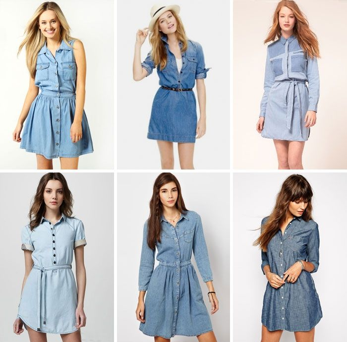 Легкие джинсовые платья