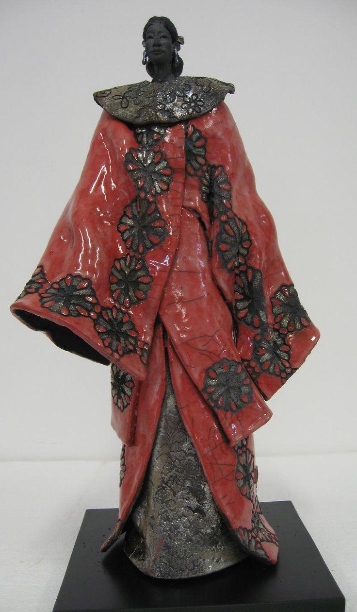Paul BECKRICH, Fleur, 58 x 26 x 31 cm, raku