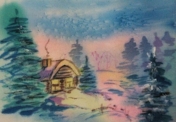 Батик .зимняя сказка
