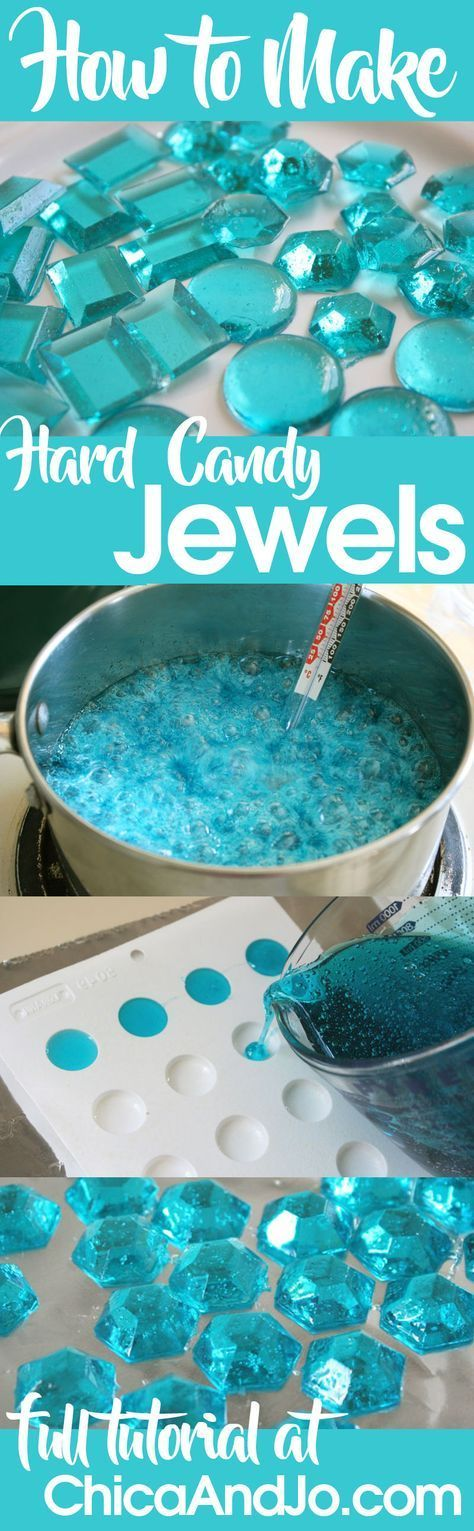 How to make hard candy jewels or gems that you can use on wedding cakes, as party favors, on cupckes and more. | Chica and Jo