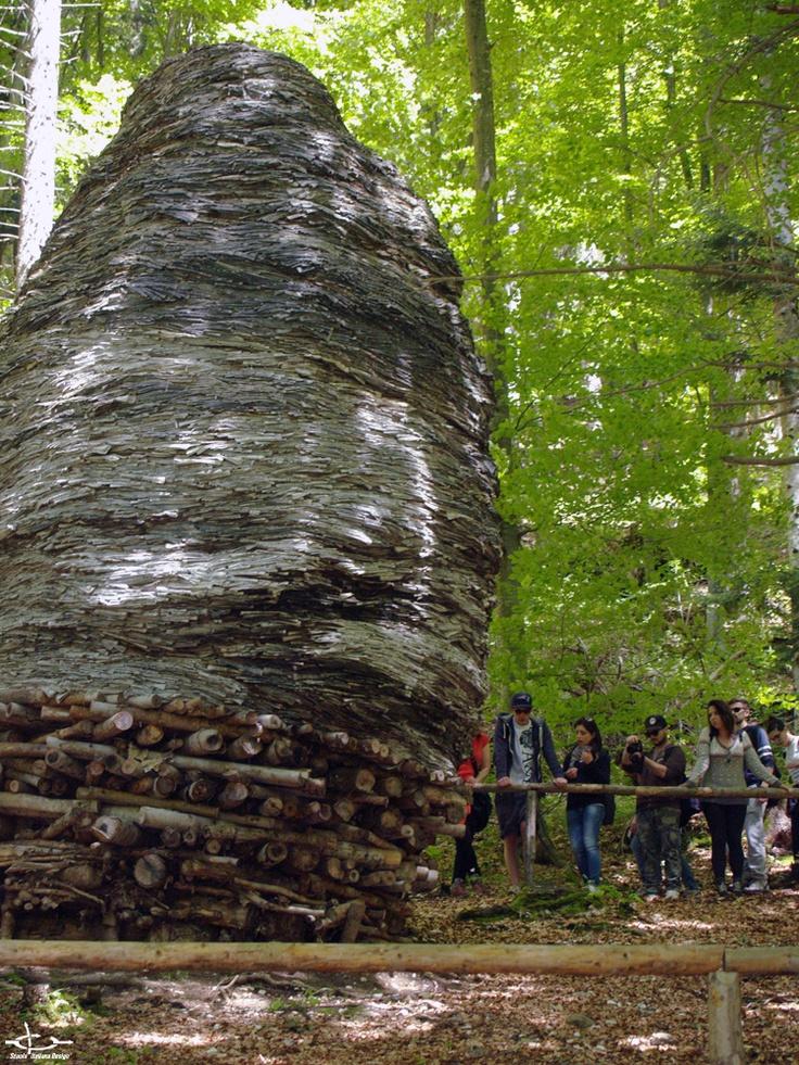 Students of Creative Design @ ArteSella (Borgo Valsugana, May 13th, 2013) #art #design #nature