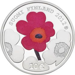 Mint of Finland is issuing a commemorative coin for Armi Ratia, the founder of textile and design house Marimekko. The coin features Armi Ratia and Marimekko's trademark Unikko poppy flower which was designed by Maija Isola.