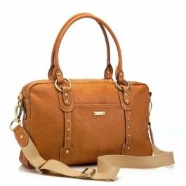 Baby nappy bags | Buy online and save Storksak Elizabeth - Leather - Tan