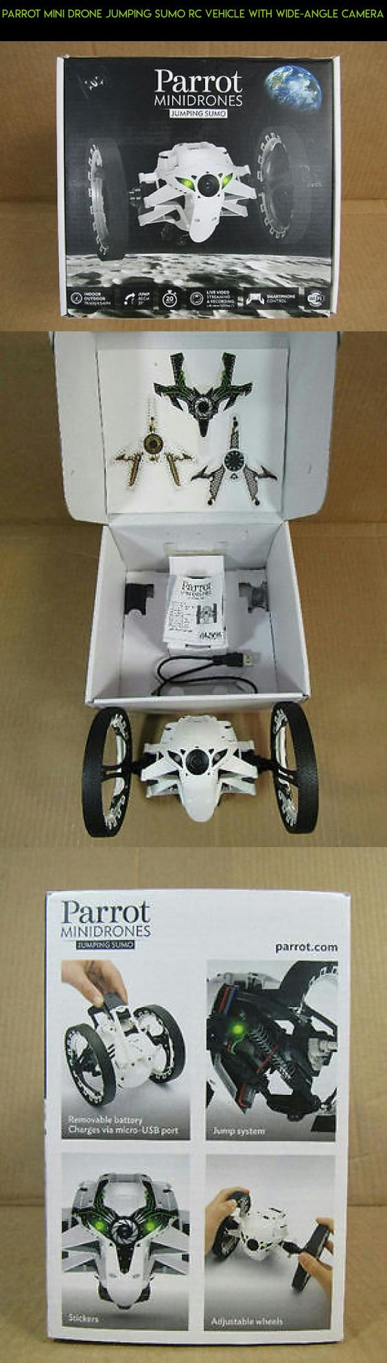 Parrot Mini Drone Jumping Sumo RC Vehicle with Wide-Angle Camera #parrot #drone #camera #kit #shopping #technology #parts #plans #tech #drone #jumping #gadgets #fpv #products #racing